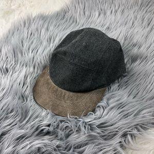 Free People Wool Leather Baseball Hat
